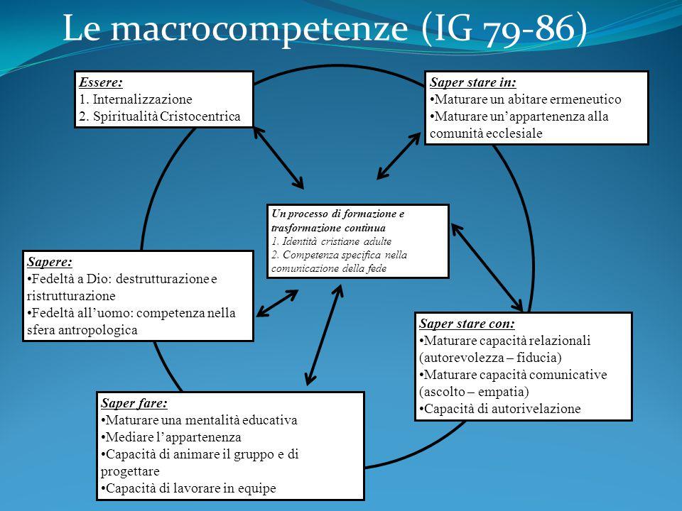 Le macrocompetenze (IG 79-86)