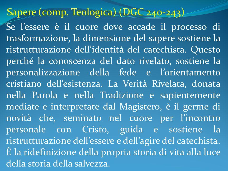 Sapere (comp. Teologica) (DGC 240-243)