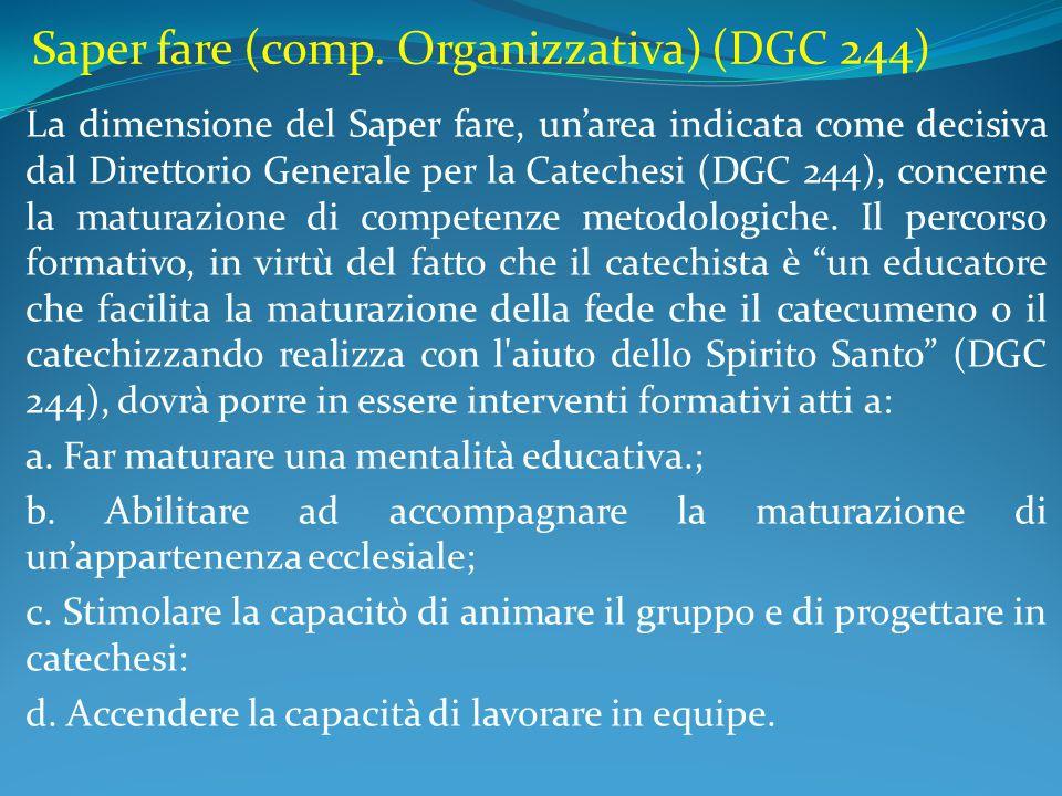 Saper fare (comp. Organizzativa) (DGC 244)