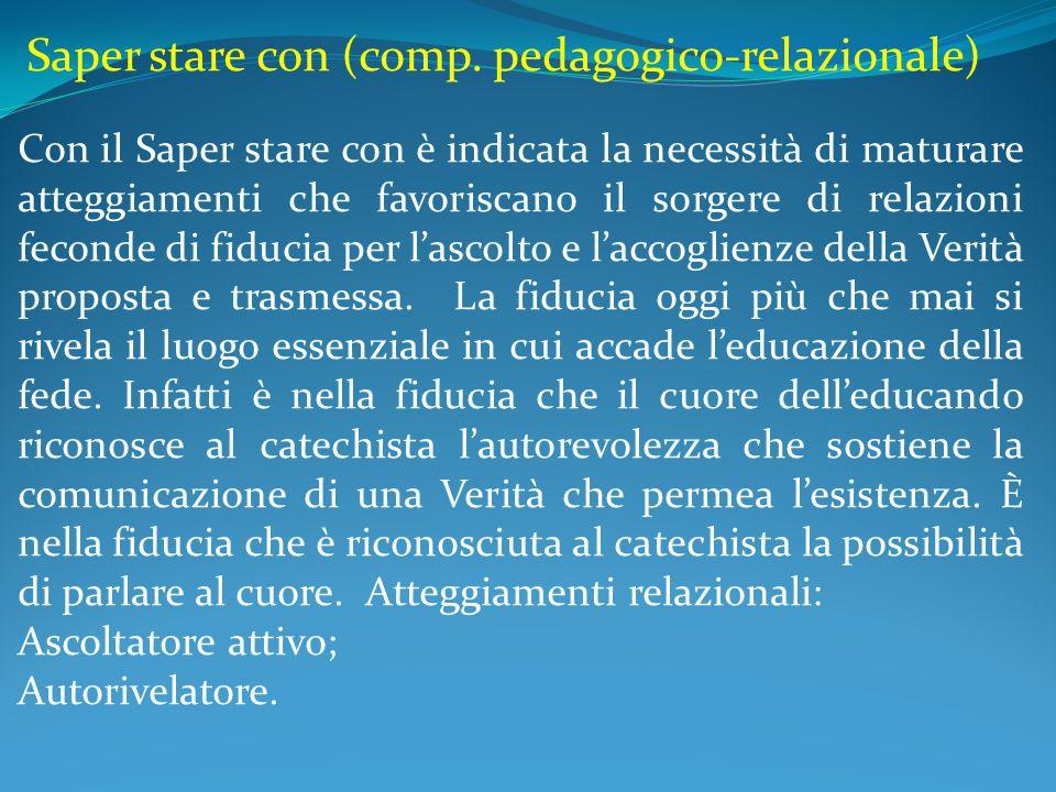 Saper stare con (comp. pedagogico-relazionale)