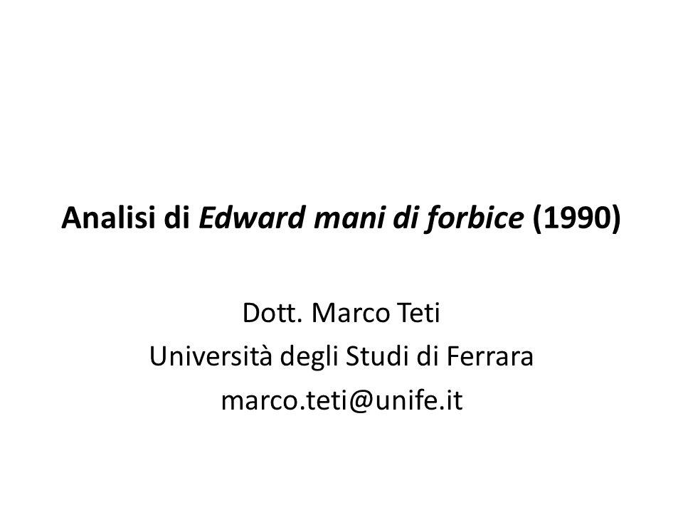 Analisi di Edward mani di forbice (1990)