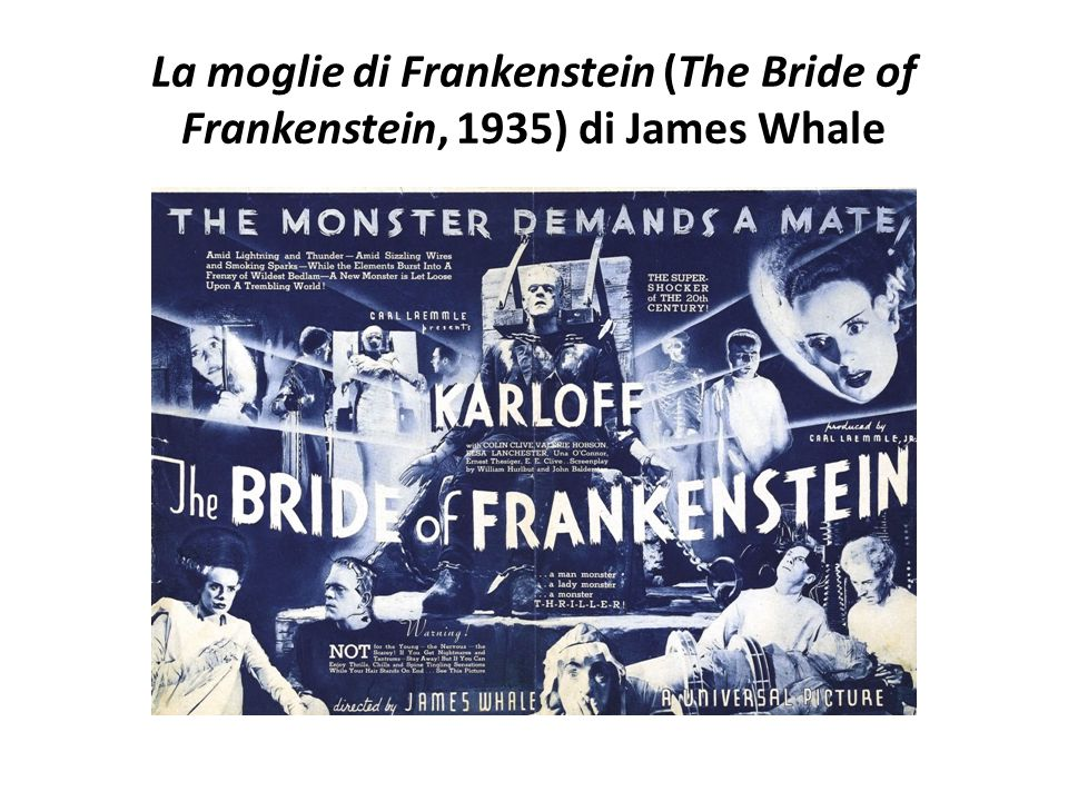 La moglie di Frankenstein (The Bride of Frankenstein, 1935) di James Whale