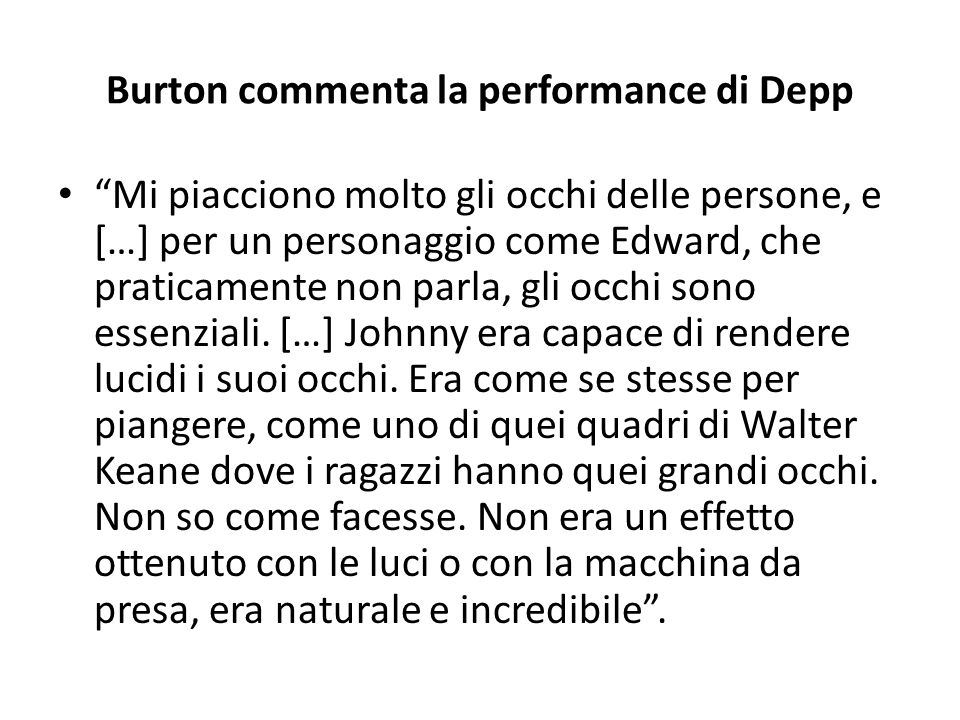 Burton commenta la performance di Depp