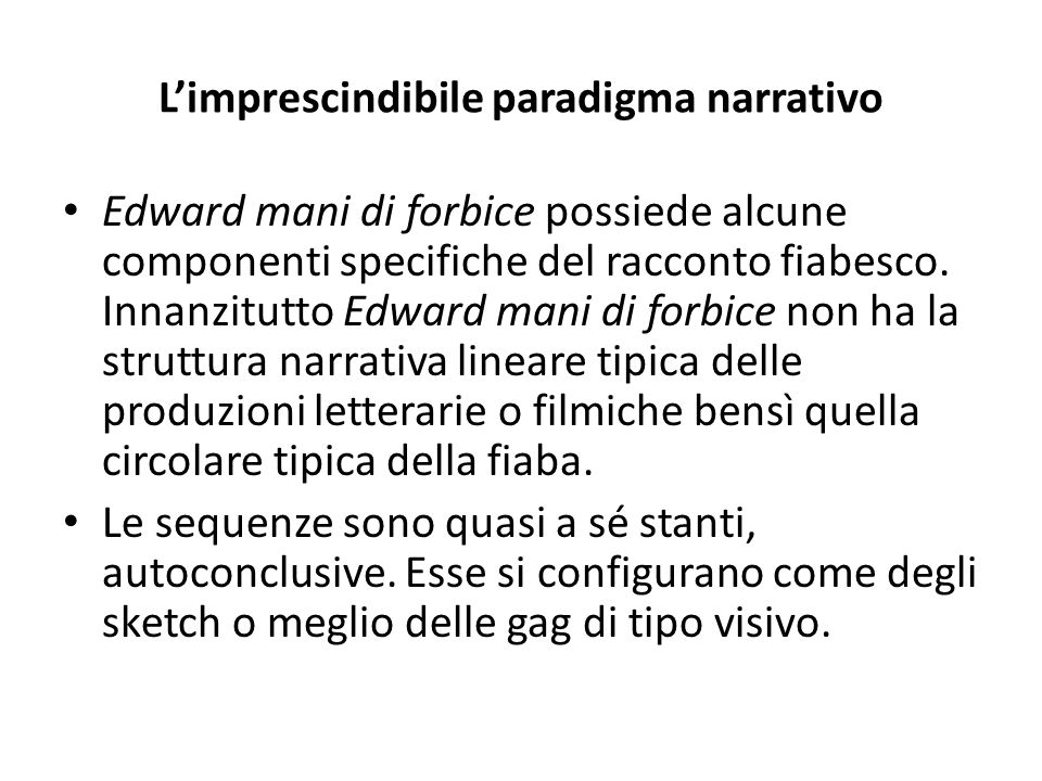 L'imprescindibile paradigma narrativo