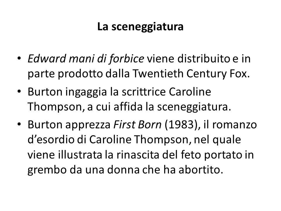 La sceneggiatura Edward mani di forbice viene distribuito e in parte prodotto dalla Twentieth Century Fox.