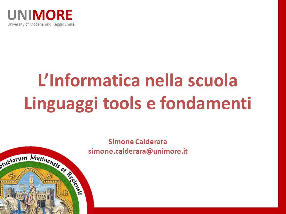 L'Informatica nella scuola Linguaggi tools e fondamenti