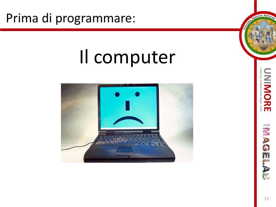 Prima di programmare: Il computer
