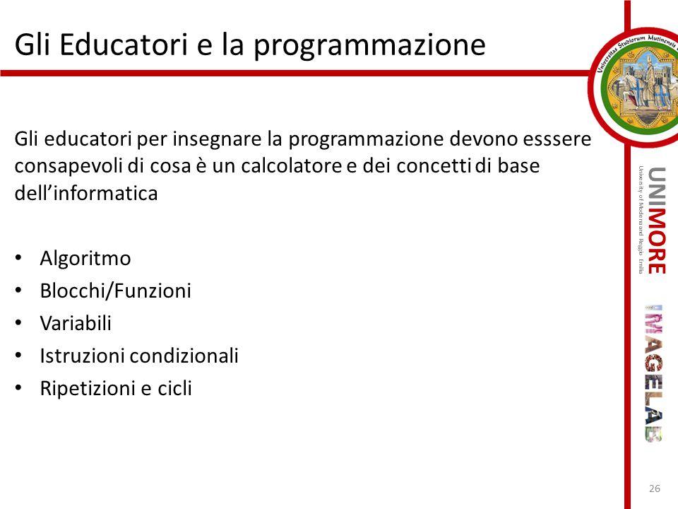 Gli Educatori e la programmazione