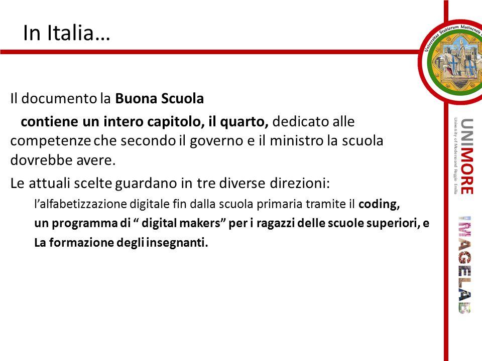 In Italia… Il documento la Buona Scuola