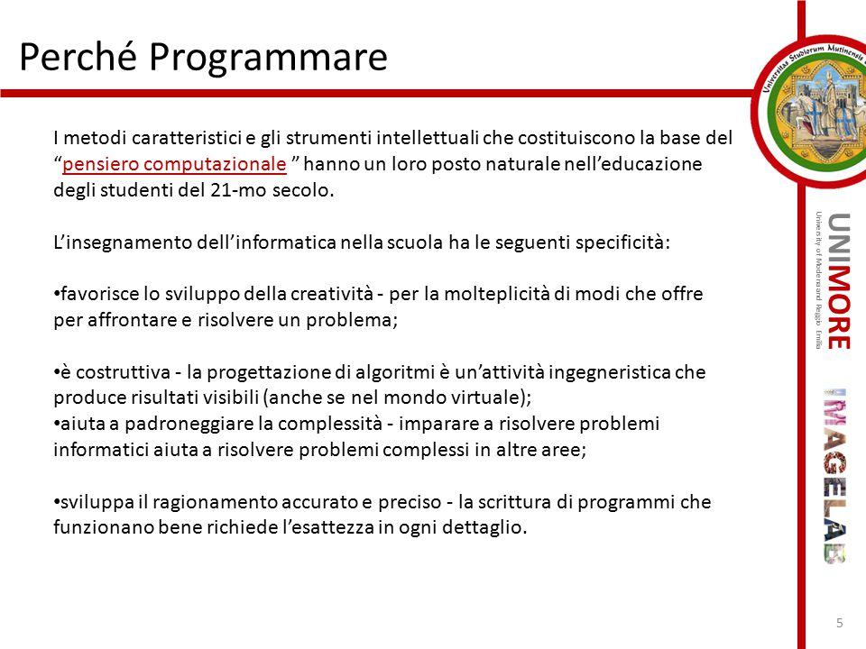 Perché Programmare
