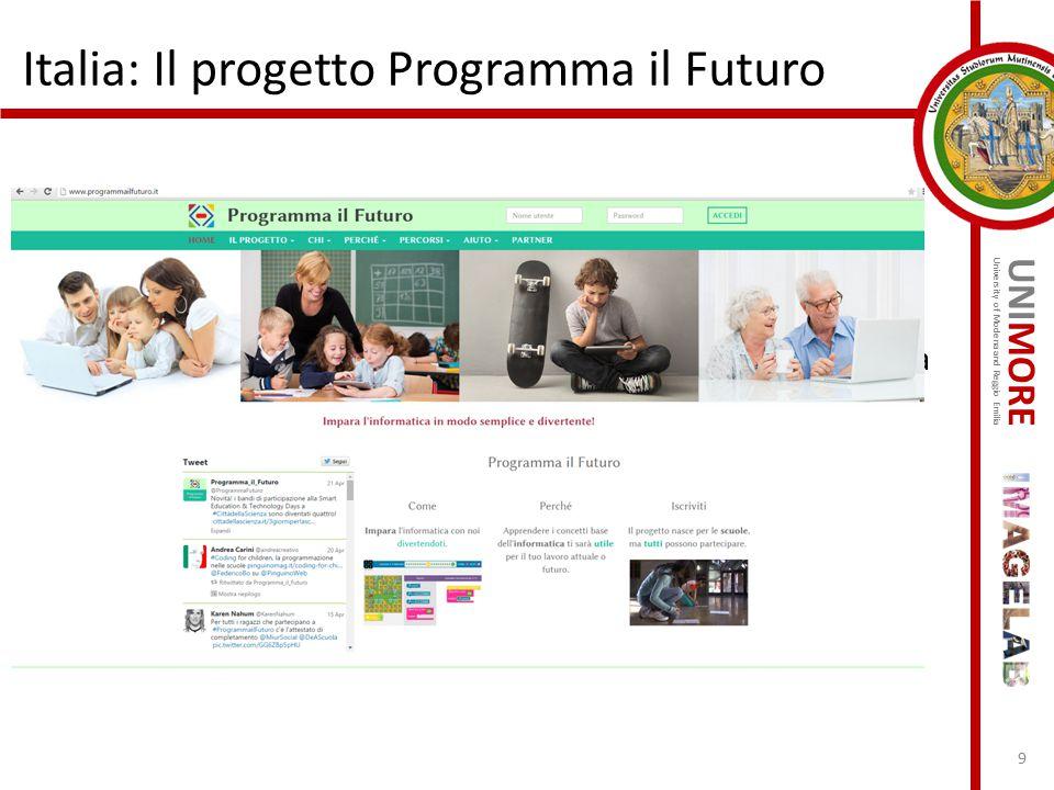 Italia: Il progetto Programma il Futuro