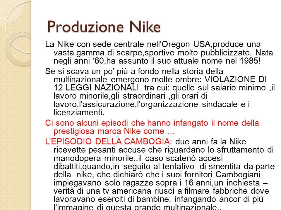 Produzione Nike