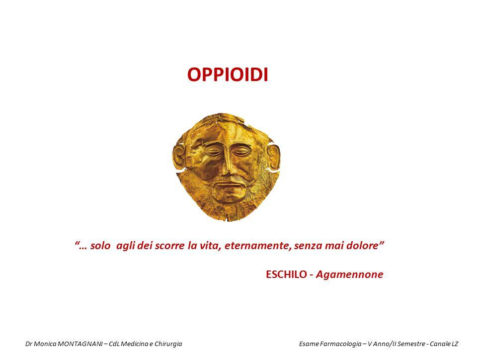 OPPIOIDI … solo agli dei scorre la vita, eternamente, senza mai dolore ESCHILO - Agamennone.