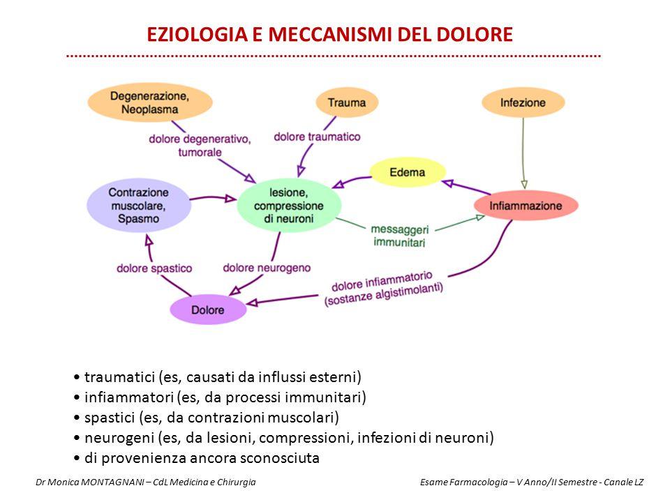 EZIOLOGIA e Meccanismi del dolore