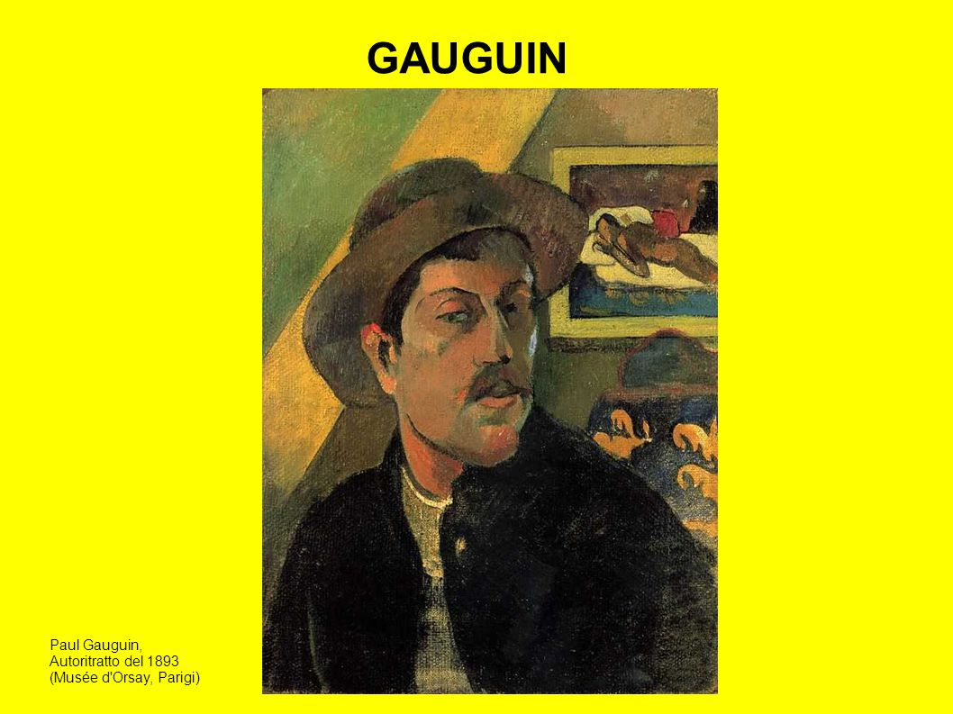 GAUGUIN Paul Gauguin, Autoritratto del 1893 (Musée d Orsay, Parigi)