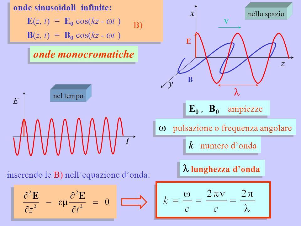 w pulsazione o frequenza angolare