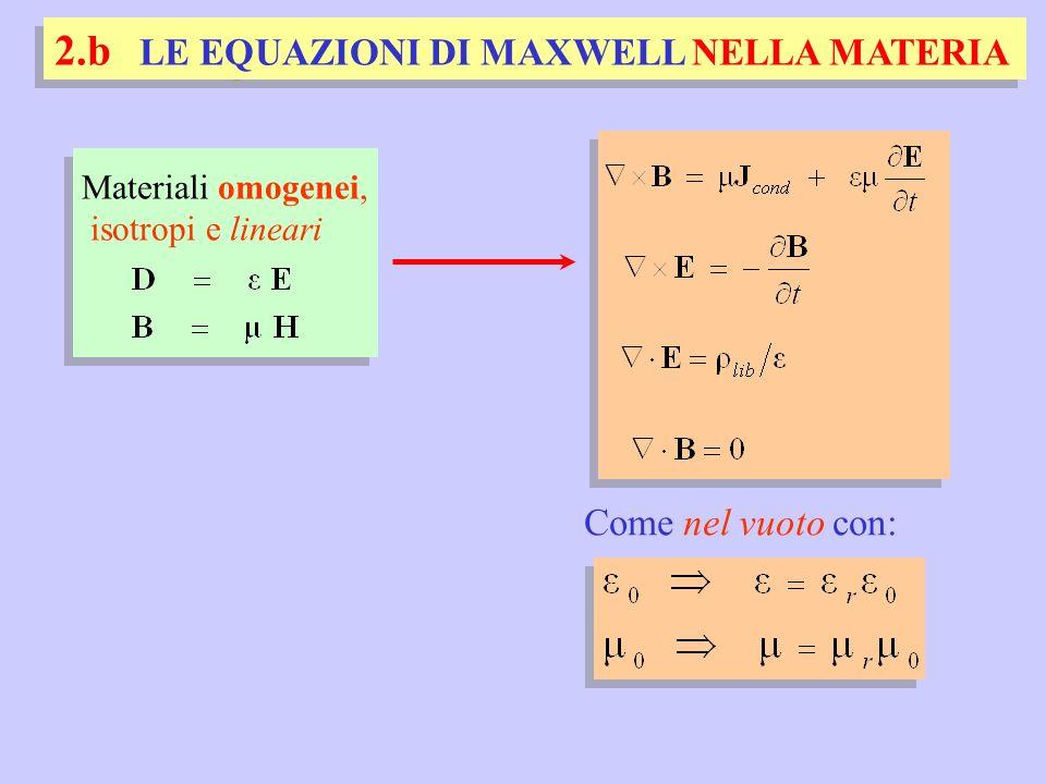2.b LE EQUAZIONI DI MAXWELL NELLA MATERIA