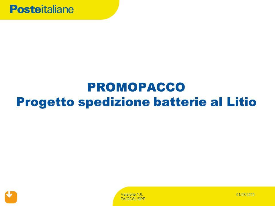 PROMOPACCO Progetto spedizione batterie al Litio