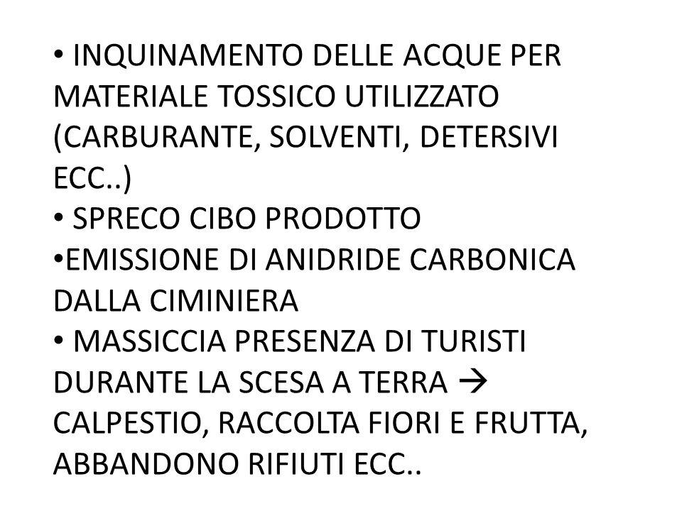 INQUINAMENTO DELLE ACQUE PER MATERIALE TOSSICO UTILIZZATO (CARBURANTE, SOLVENTI, DETERSIVI ECC..)