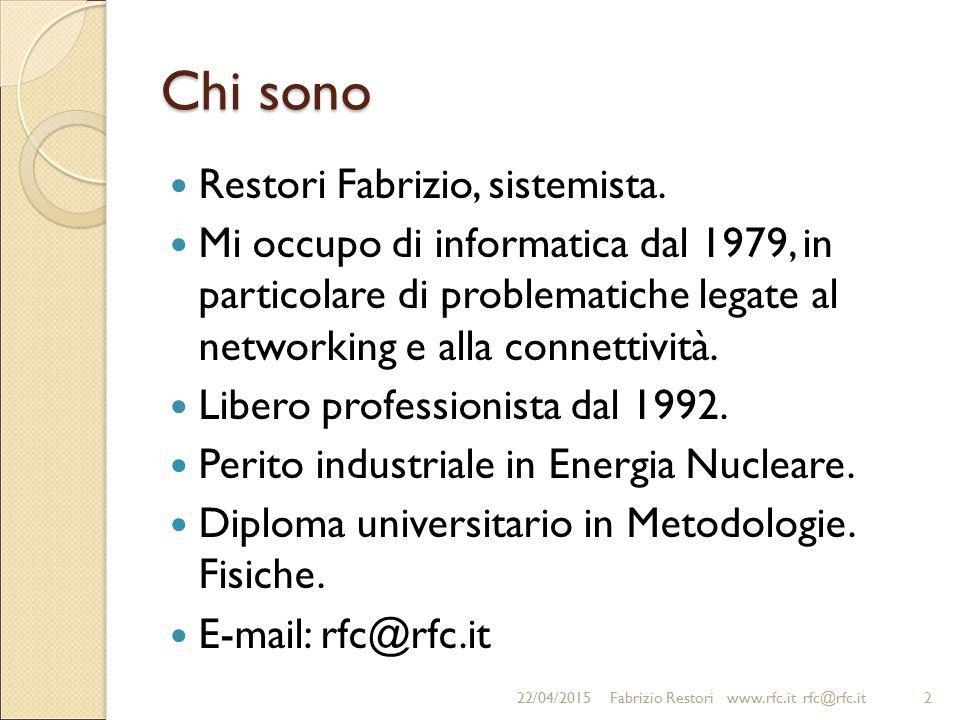 Chi sono Restori Fabrizio, sistemista.