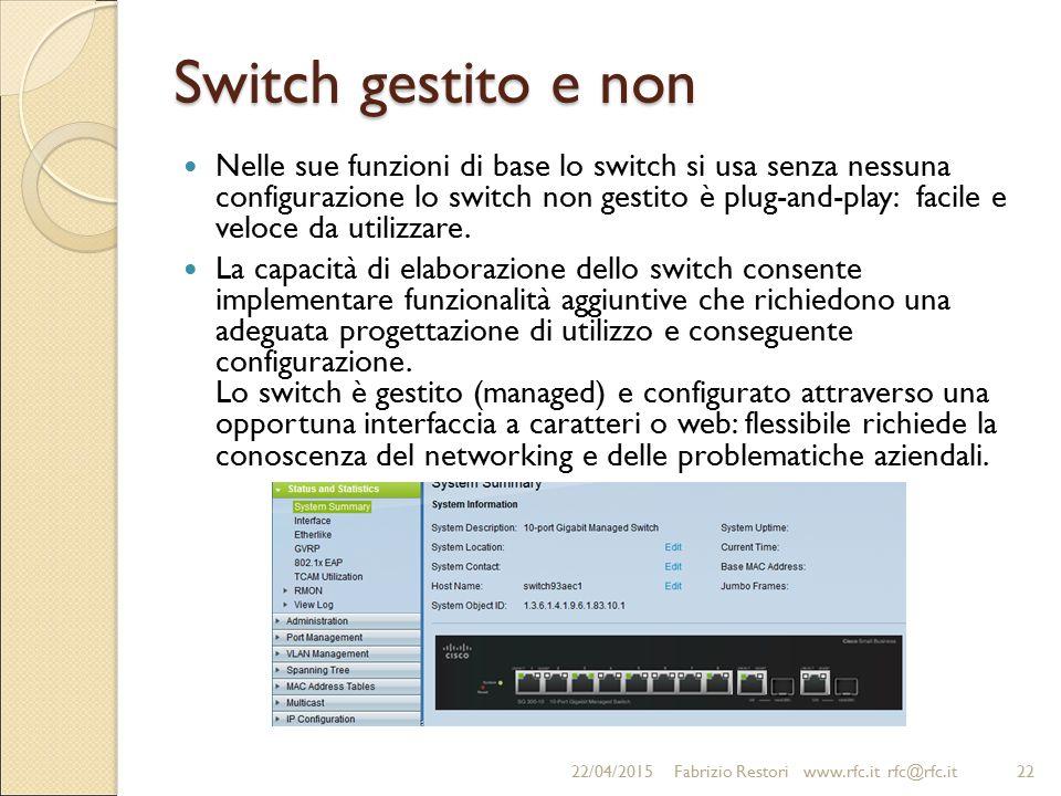 Switch gestito e non