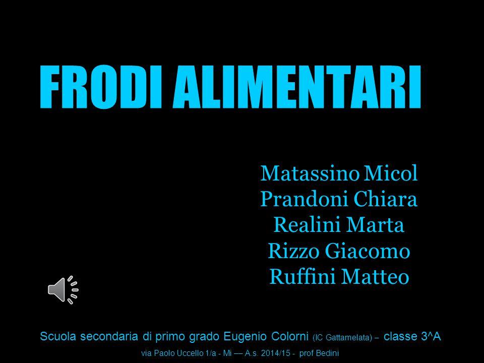 via Paolo Uccello 1/a - Mi –– A.s. 2014/15 - prof Bedini