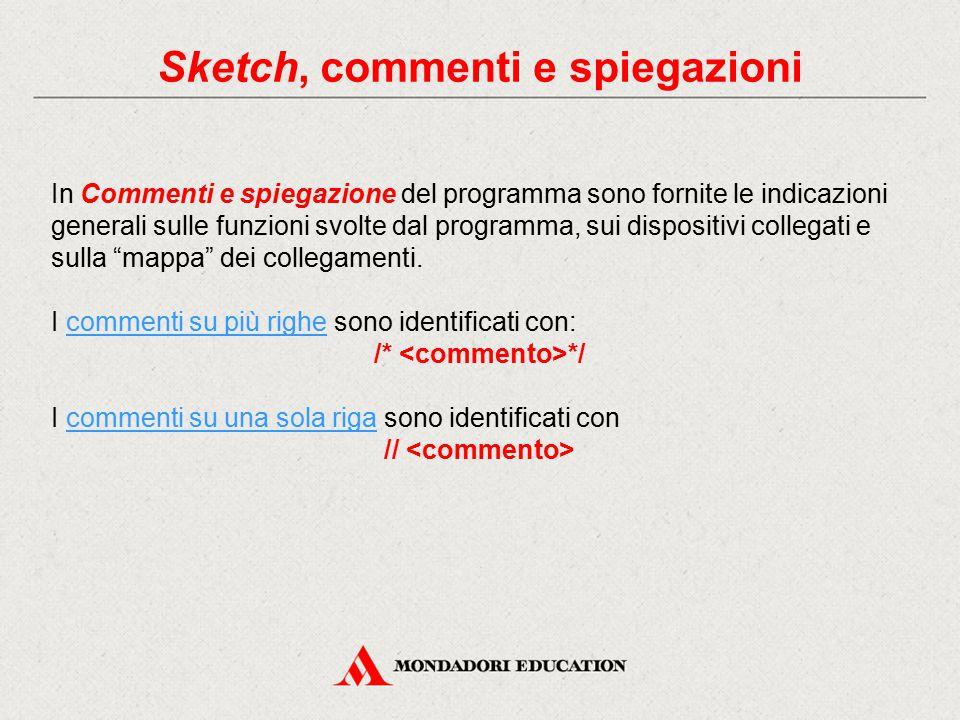 Sketch, commenti e spiegazioni /* <commento>*/