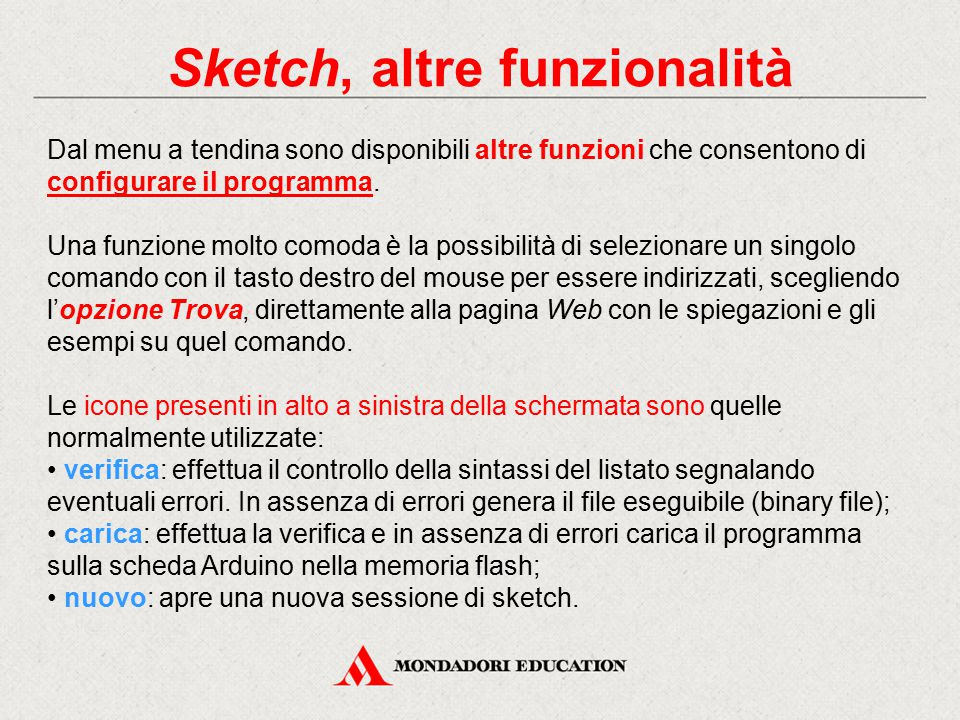 Sketch, altre funzionalità