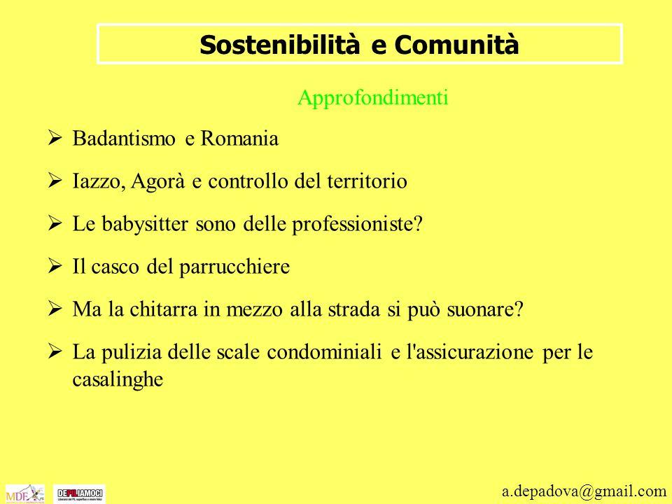 Sostenibilità e Comunità