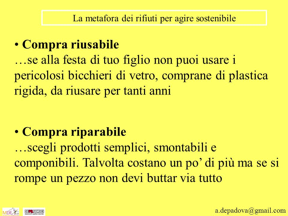 La metafora dei rifiuti per agire sostenibile