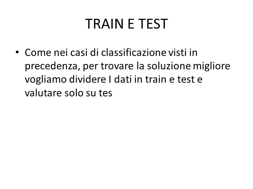 TRAIN E TEST