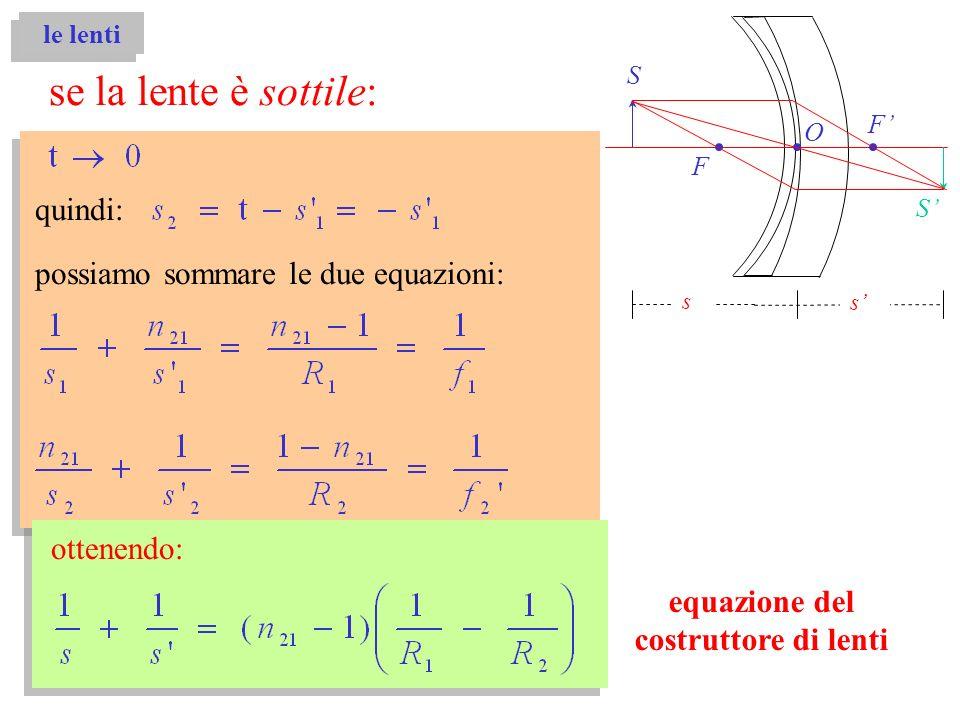 possiamo sommare le due equazioni: