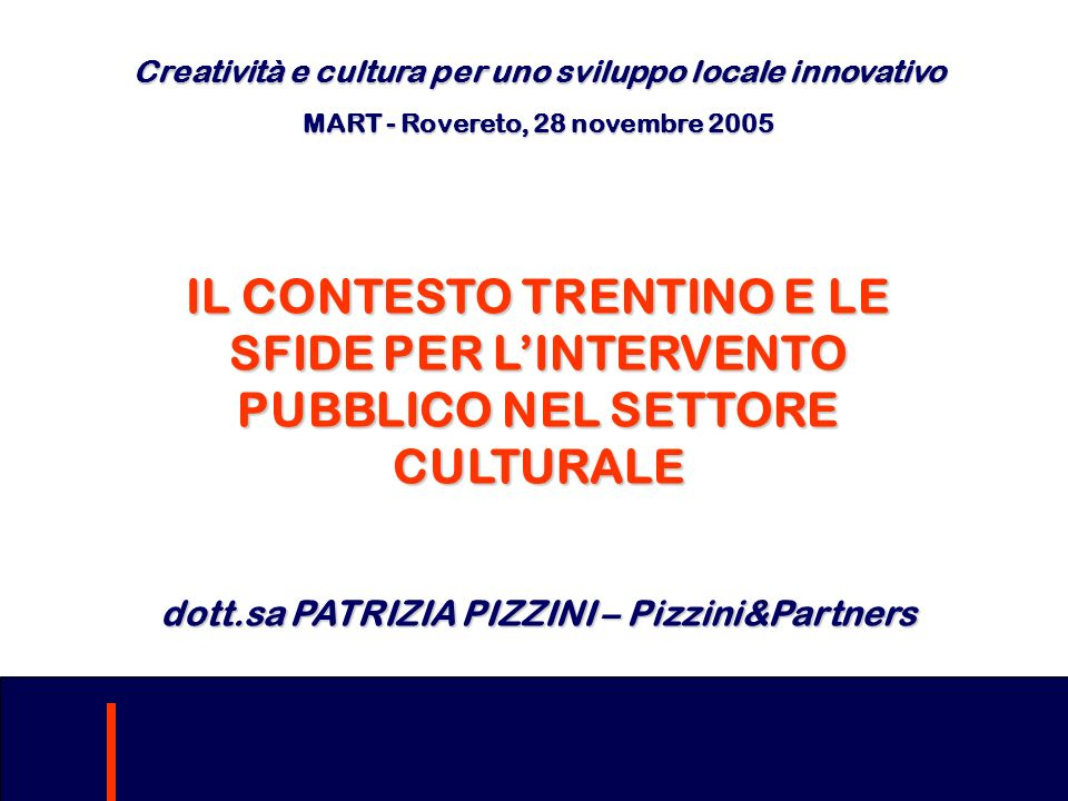 Creatività e cultura per uno sviluppo locale innovativo