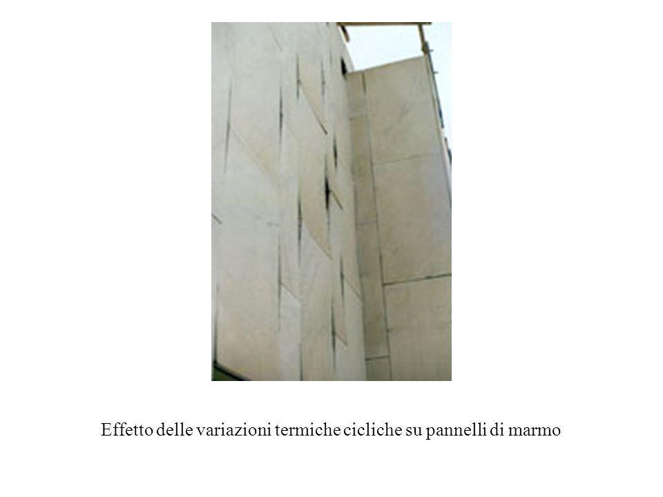 Effetto delle variazioni termiche cicliche su pannelli di marmo