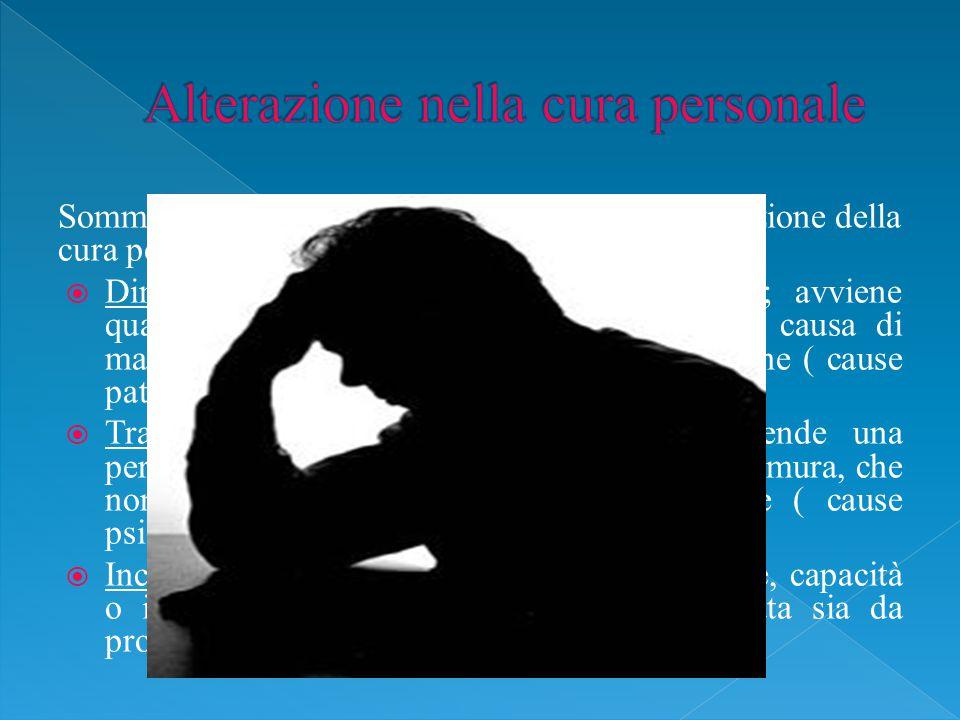 Alterazione nella cura personale