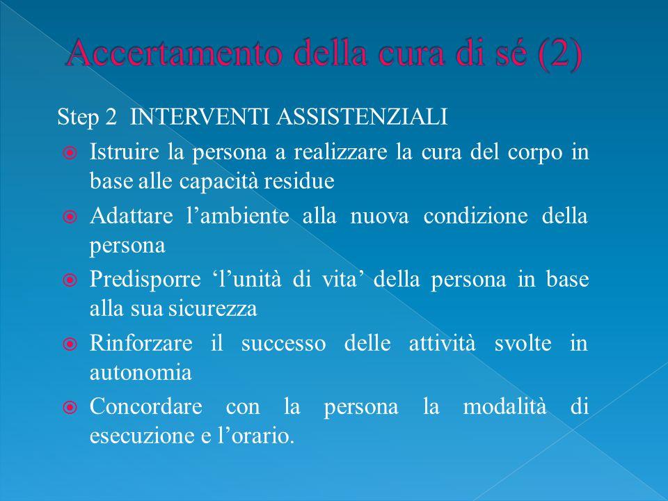 Accertamento della cura di sé (2)