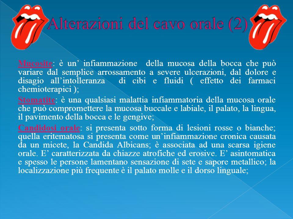 Alterazioni del cavo orale (2)