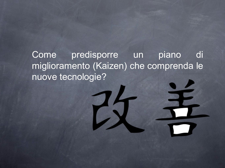 Come predisporre un piano di miglioramento (Kaizen) che comprenda le nuove tecnologie