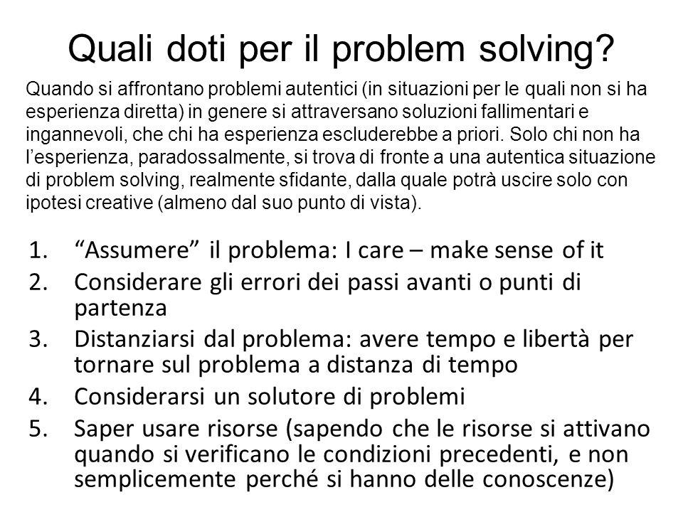 Quali doti per il problem solving