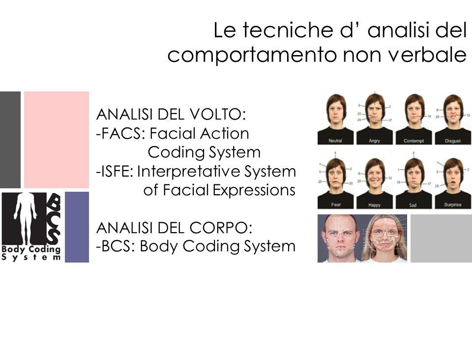 Le tecniche d' analisi del comportamento non verbale
