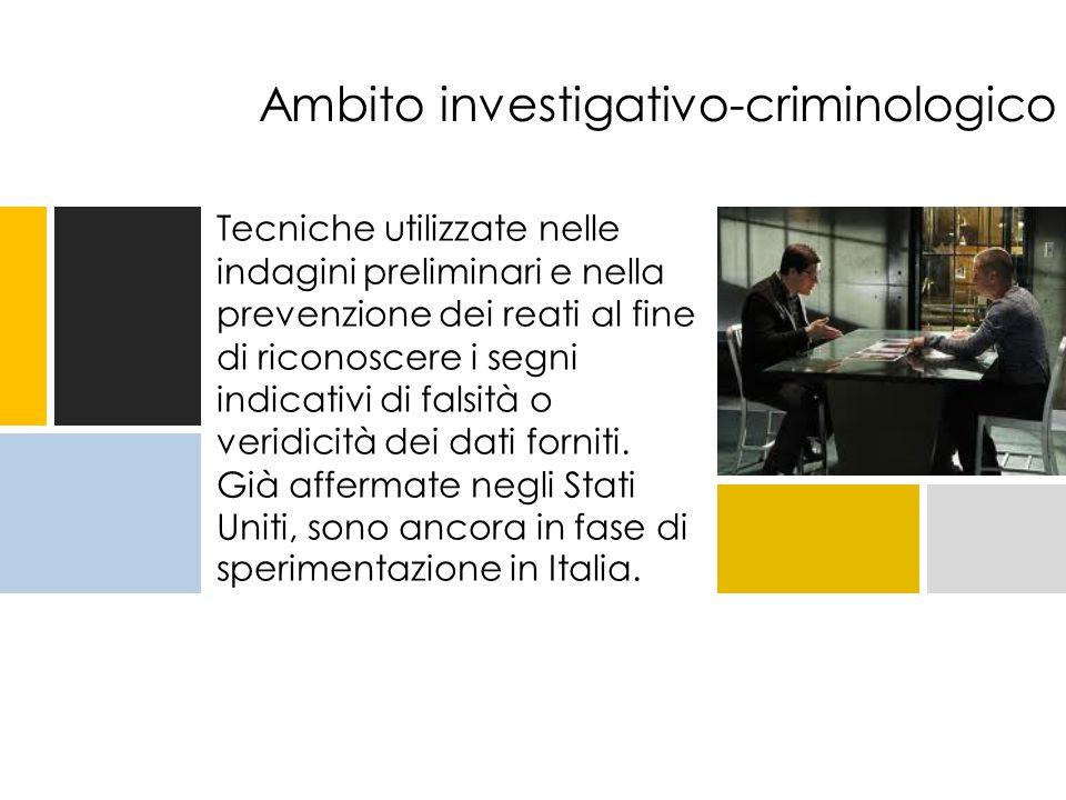 Ambito investigativo-criminologico