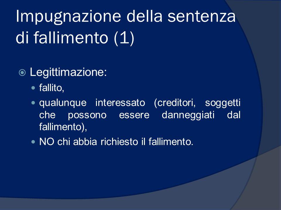 Impugnazione della sentenza di fallimento (1)