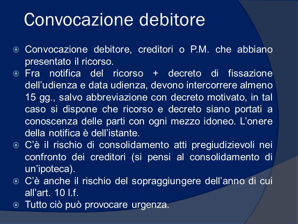 Convocazione debitore