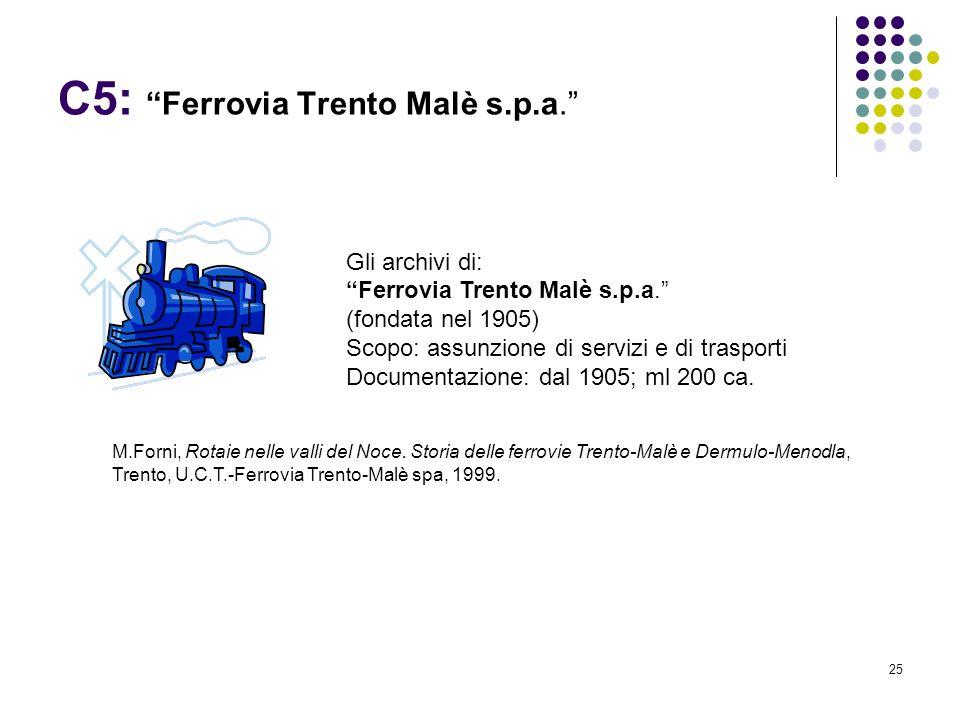 C5: Ferrovia Trento Malè s.p.a.