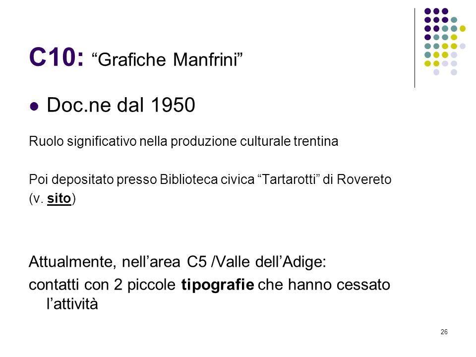 C10: Grafiche Manfrini