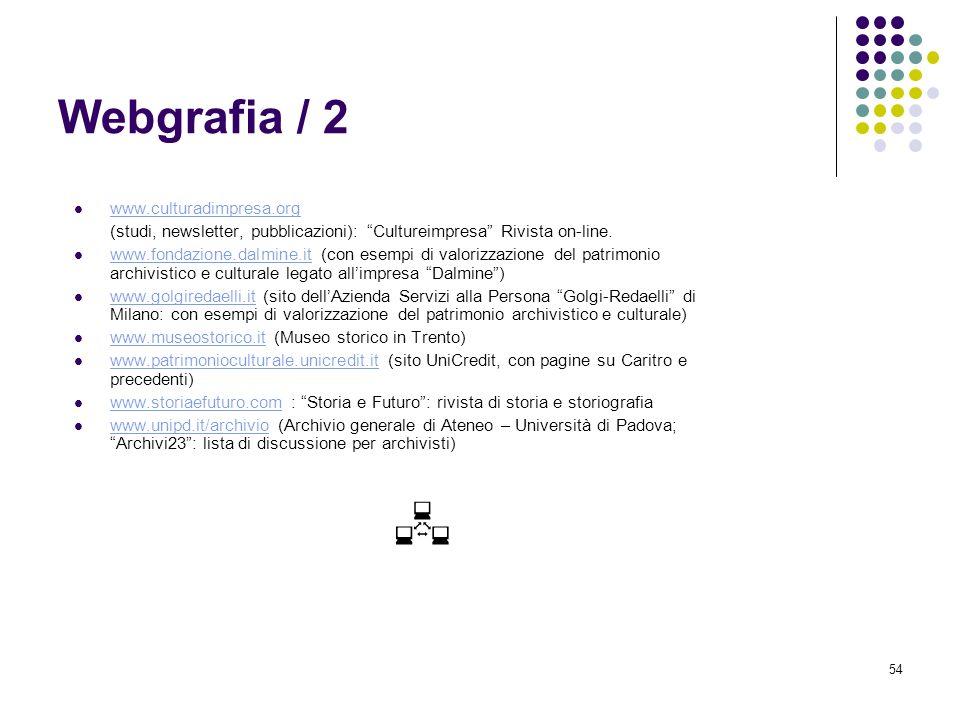 Webgrafia / 2 www.culturadimpresa.org