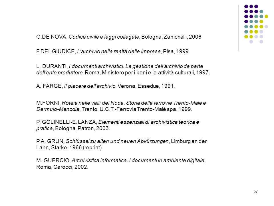 G.DE NOVA, Codice civile e leggi collegate, Bologna, Zanichelli, 2006