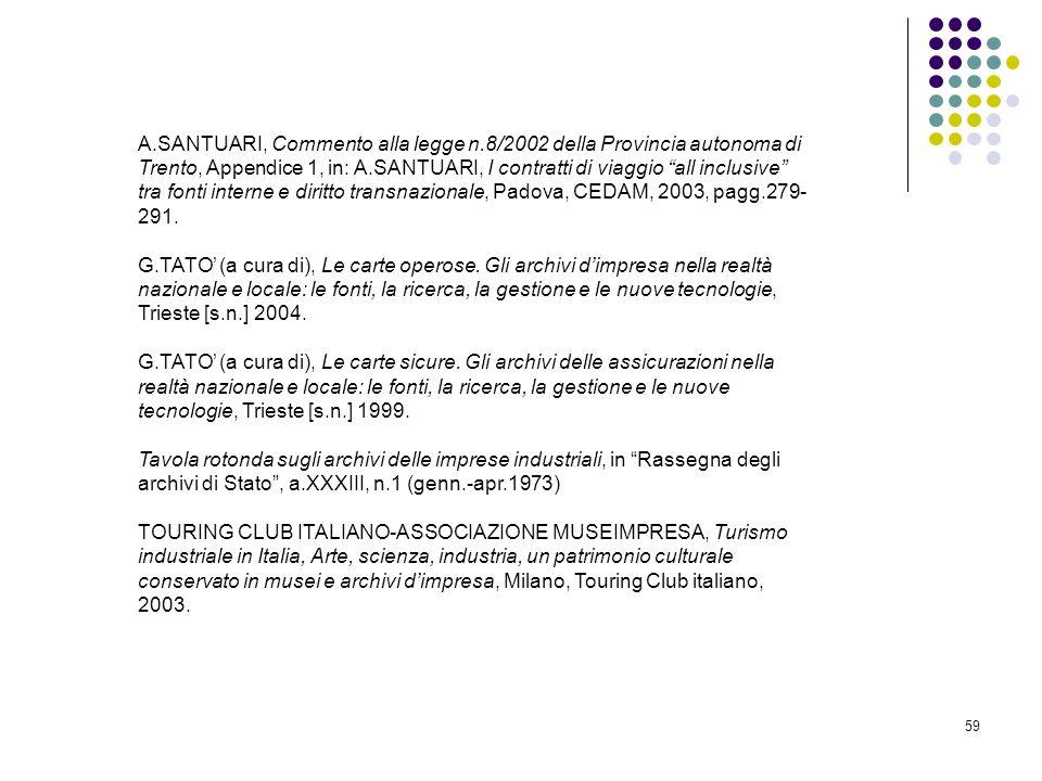 A. SANTUARI, Commento alla legge n