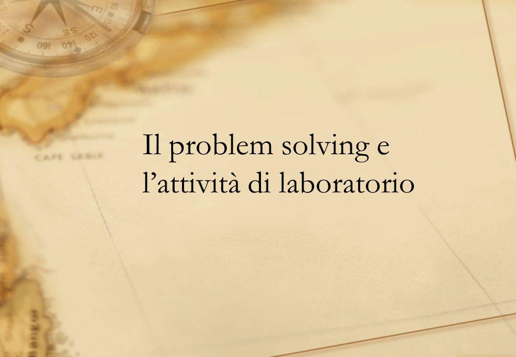 Il problem solving e l'attività di laboratorio