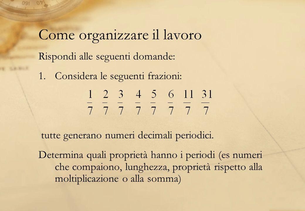Come organizzare il lavoro
